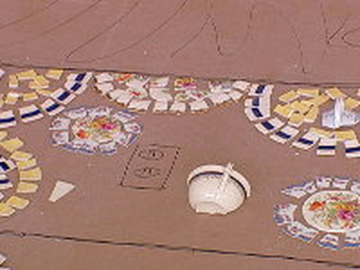 Мозаики на полу своими руками